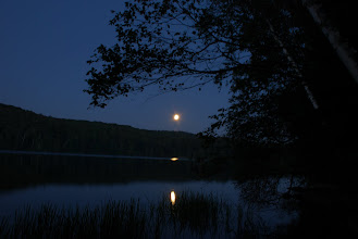 Photo: Moon rise at Ricker Pond State Park by Linda Carlsen-Sperry.