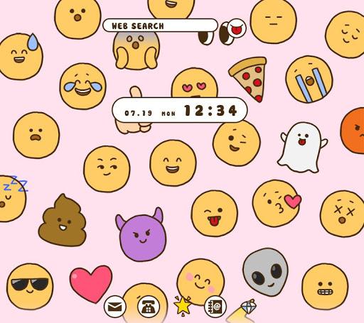 Cute Wallpaper Enjoy Emoji Theme 1.0.1 Windows u7528 1