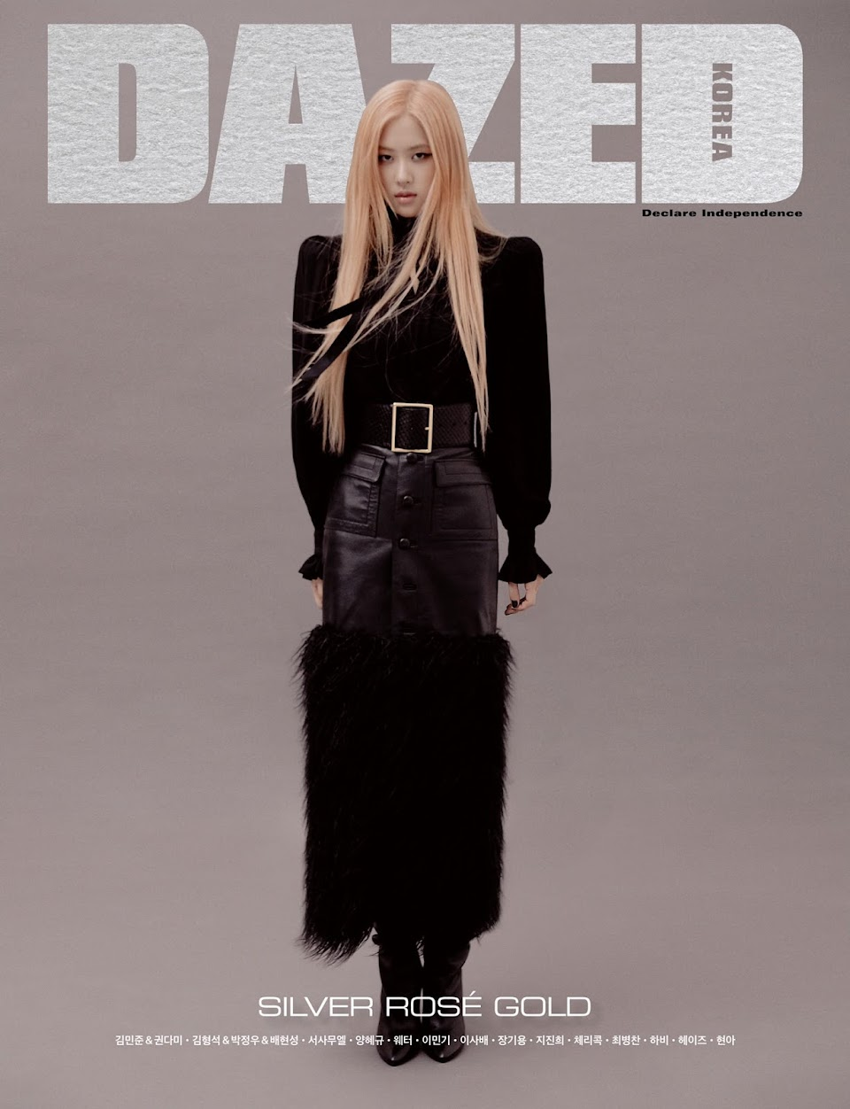 blackpink rose dazed korea october