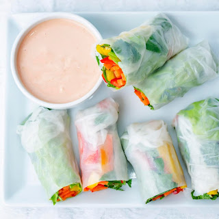 Vegetable Spring Rolls With Coconut Curry Sauce
