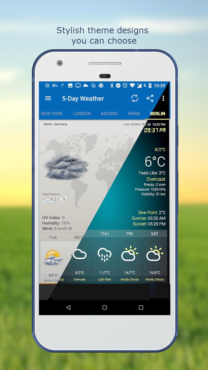 Weather & Clock Widget for Android Ad Free Screenshot 3