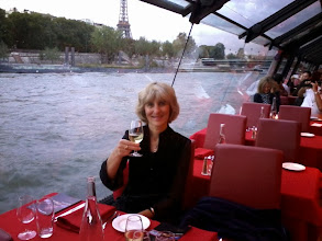 Photo: Aboard our dinner cruise. No cameras, no distraction. Only bad phone shots.