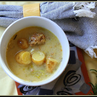 Fingerling Potato and Sausage Soup.