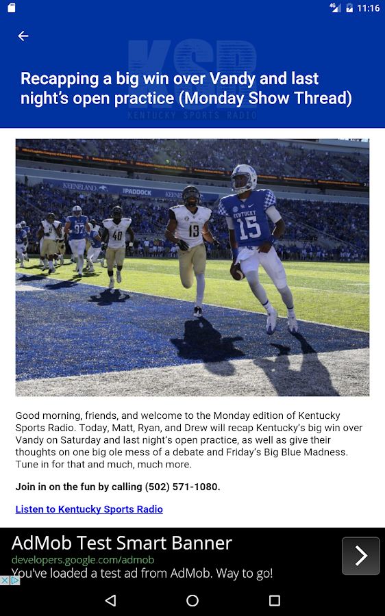 Kentucky Sports Radio (KSR)- screenshot