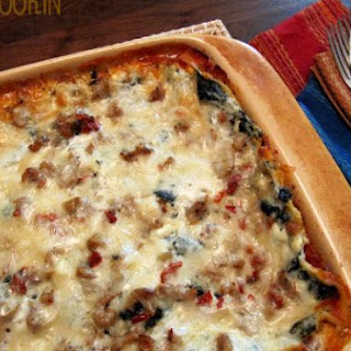 Super Kale and Sausage Lasagna