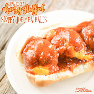 Cheesy Stuffed Sloppy Joe Meatballs