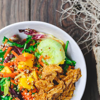 Spinach Quinoa Mango Salad Recipe with Chicken