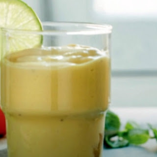 Banana, Coconut, Mango and Lime Smoothie.