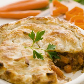Puff Pastry Pie with Beef Filling.