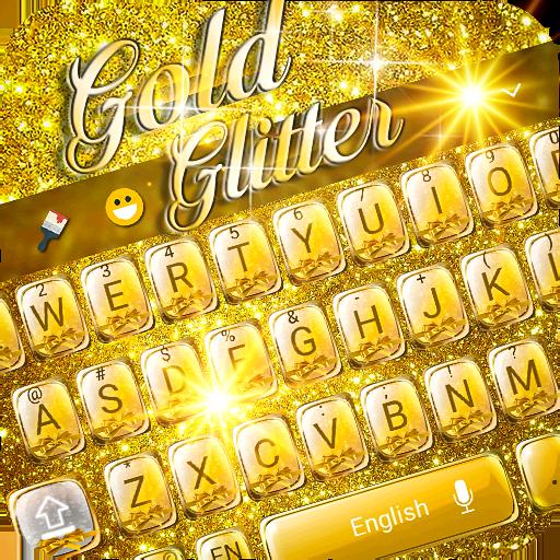Gold Glitter Emoji Keyboard