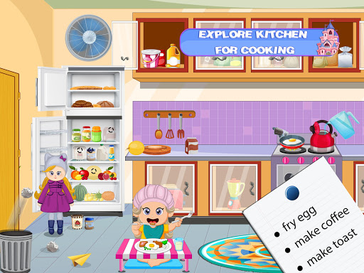 Pretend Play Doll House: Town Family Mansion Fun android2mod screenshots 4