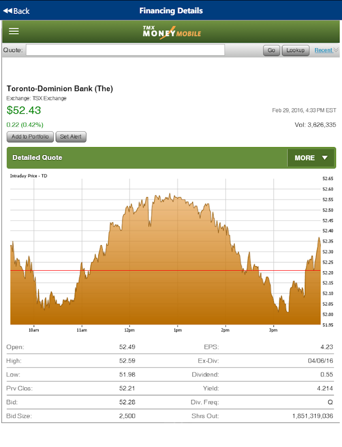 TSX Investinit- screenshot
