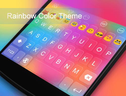 玩個人化App|Emoji Keyboard-Rainbow Color免費|APP試玩