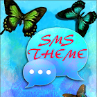 Blue Butterfly Theme GO SMS icon