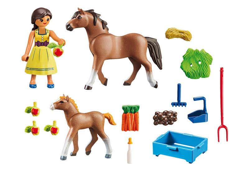 Contenido real de Playmobil® 70122 Pru con Caballo y Potro