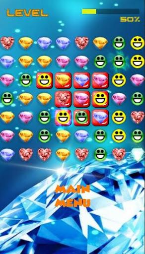Smiley Jewels Mania Bubble Fun