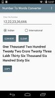 screenshot of Number To Words Converter