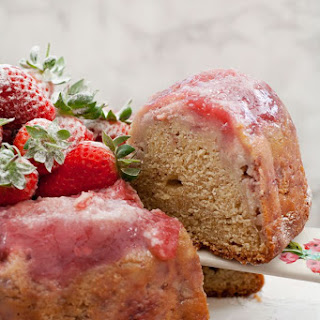 Strawberry Cheesecake Upside Down Bundt Cake