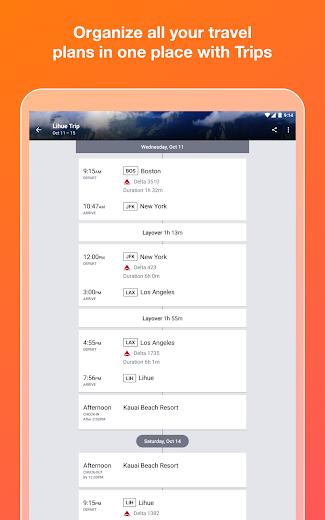 Screenshot 7 for Kayak's Android app'