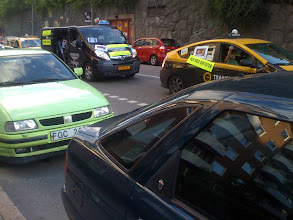 Photo: it seems most of the city's taxis were part of the march