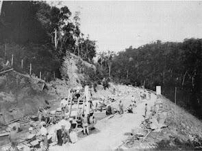 Photo: Construção da Rodovia Washington Luis. Foto de 1928