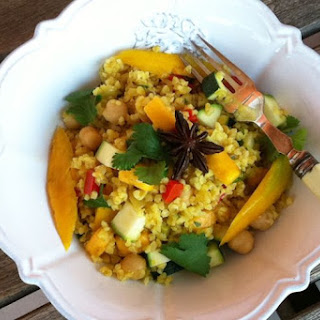 Mango Bulghar Salad with Mango Vinaigrette