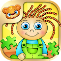 123 Kids Fun PUZZLE GREEN icon