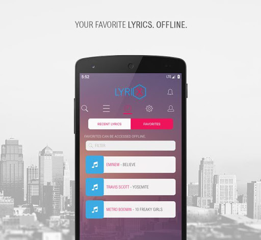Lyrix - Save Music Lyrics Offline 3.4.2 screenshots 2