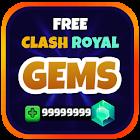 Gemas de Clash Royale Prank icon