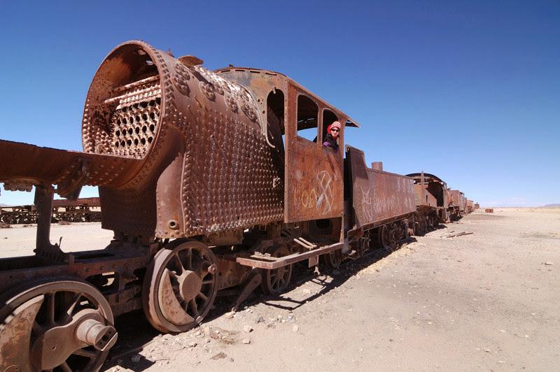Photo: pohrebiste vlaku - Cemeterio del tren
