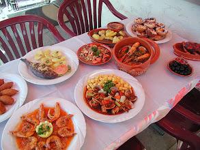 Photo: Dourade, Meeresfrücht eintopfe, Crevetten