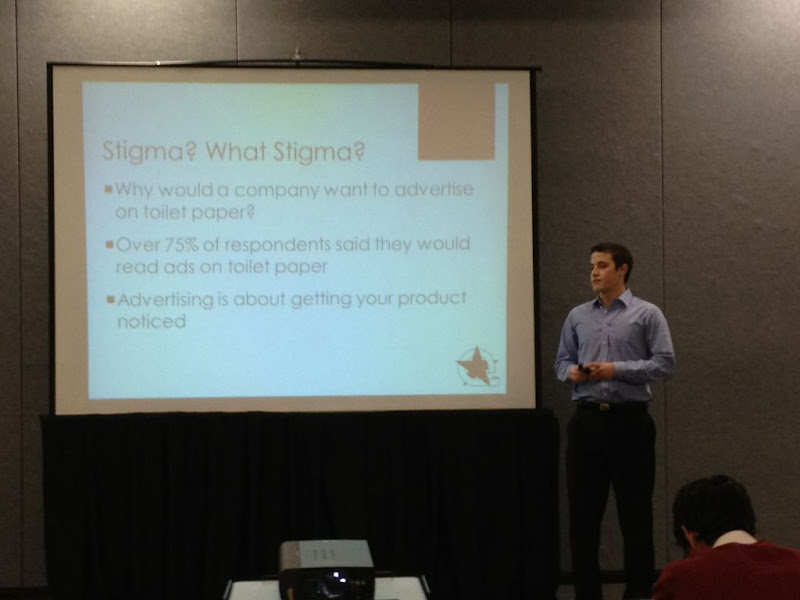 Photo: Bryan competing at the Duke Startup Challenge Elevator Pitch Competition