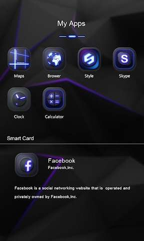 android Darkness GO Launcher Theme Screenshot 3