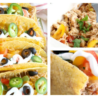 Baked Shredded Chicken Tacos