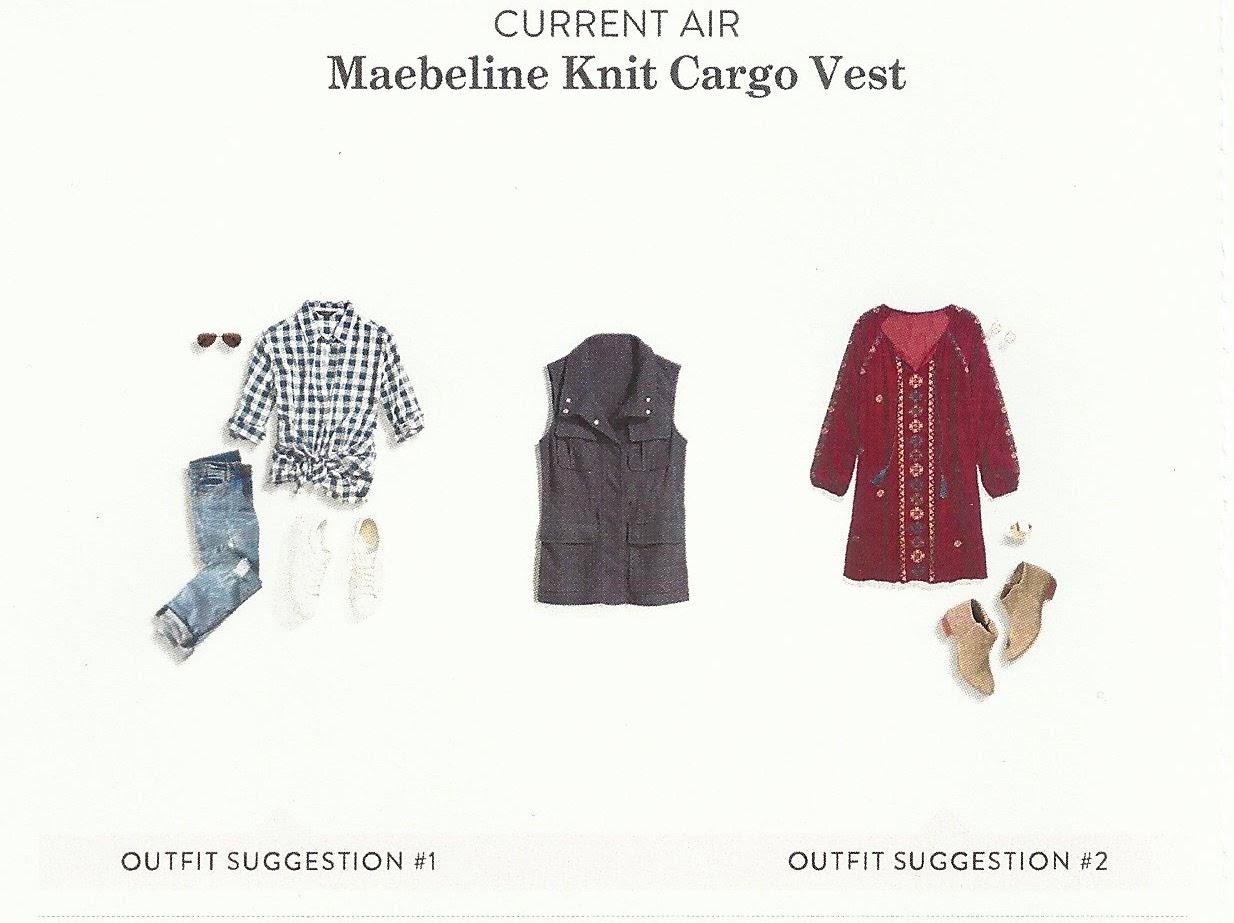 Fall 2017 Stitch Fix, Current Air Maebeline Knit Cargo Vest
