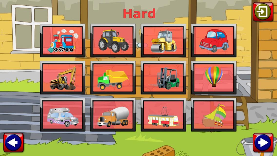 Car Truck and Engine Puzzles- screenshot