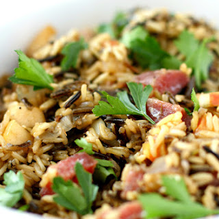 Wild Rice Stuffing with Salami, Mushrooms, and Apples. Recipe