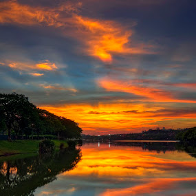 Parallel universe by Mohd Hisham Ahmad - Landscapes Waterscapes ( dri, hdr, putrajaya, sunset, reflections, lake )