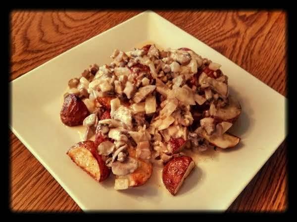 Red Potatoes In Mushroom Sauce