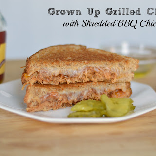 Grilled Shredded BBQ Chicken and Cheese Sandwich