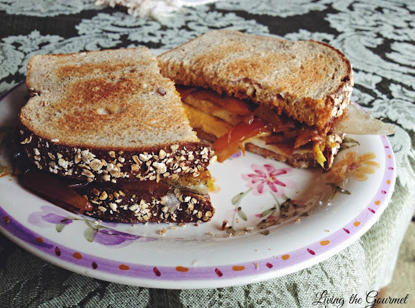 Egg Sandwich With Spiced Sautéed Onions Recipe