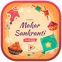Makar Sankranti Vid Status : Kites Day Video Maker icon