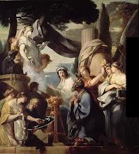Photo: Sébastien Bourdon - Le roi salomon sacrifiant aux idoles 156x145 Paris - musee du louvre