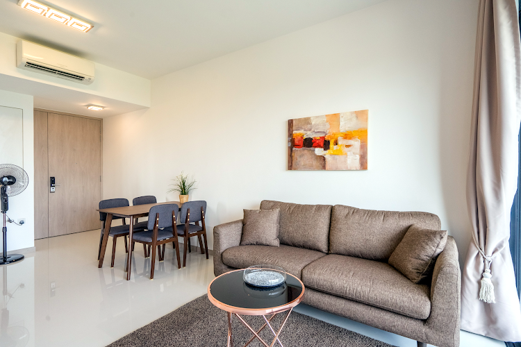 Living room at Clementi apartment