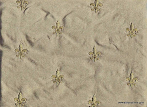Photo: Agra 17 - Palace Embroidery - Jade   100% Silk Taffeta Plain