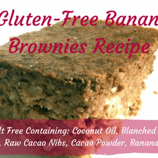Quick and Easy Gluten-Free Banana Nut Brownies.