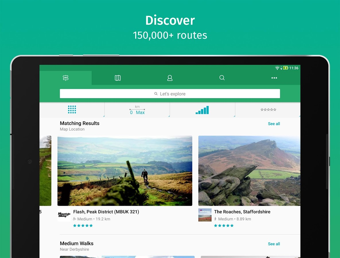 viewranger how to download maps