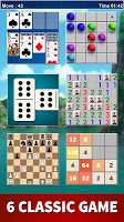 Board Game Classic: Domino, Solitaire, 2048, Chess