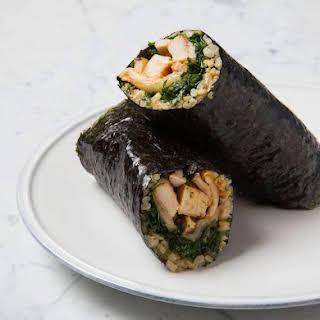 Kimchi & Grilled Chicken Nori Wrap.