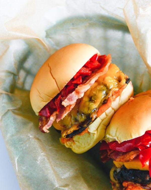 Smoky Sweet Cherry Pepper Cheeseburgers Recipe